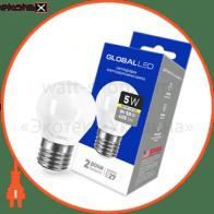 лампа світлодіодна g45 f 5w 3000k 220v e27 ap светодиодные лампы global Global 1-GBL-141