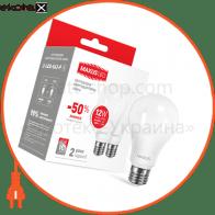 Лампа світлодіодна A65 12W 3000K 220V E27 (по 2 шт.)