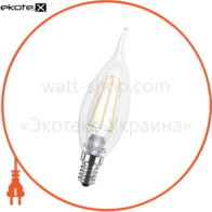 led лампа maxus (филамент), c37 tl, 4w, яргкий свет,e14 (1-led-540) (new) светодиодные лампы maxus Maxus
