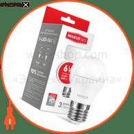 Лампа світлодіодна G45 F 6W 3000K 220V E27