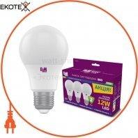Комплект ламп светодиодных стандартных B60 PA10S 12W E27 4000K 175-250V алюмопл. корп. 3шт. 18-0184