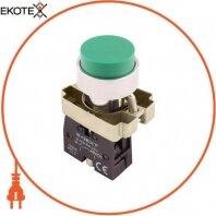 Кнопка без подсветки выпуклая e.mb.bl31 зеленая, без фиксации, 1NO