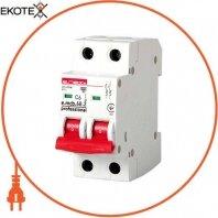 Модульный автоматический выключатель e.mcb.pro.60.2.C 6 new, 2р, 6А, C, 6кА new