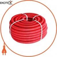 Труба гофрированная тяжелая (750Н) e.g.tube.pro.19.25 (50м).red, красная