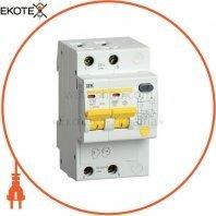 Дифференциальный автоматический выключатель АД12S 2Р 40А 100мА IEK