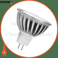 LED лампа MR16 GU5.3 220V 6.5W 4100K акція 2шт. мультипак Eurolamp