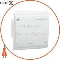 Бокс ЩРВ-П-6 модулей встраиваемый пластик IP41 PRIME белая дверь IEK