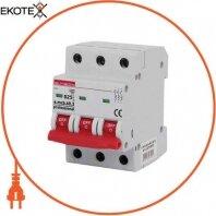 Модульный автоматический выключатель e.mcb.pro.60.3.D 25 new, 3р, 25А, D, 6кА new