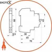 Enext p042100 дополнительный контакт e.mcb.aux