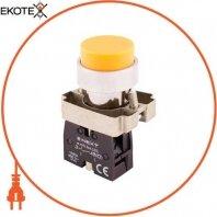 Кнопка без подсветки выпуклая e.mb.bl51 желтая, без фиксации, 1NO