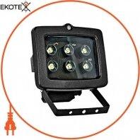 Прожектор светодиодный e.light.LED.150.6.6.2700.black 6Вт черный
