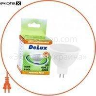 лампа светодиодная DELUX JCDR 5Вт 4100K 220В GU5.3 белый