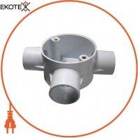 Коробка e.pipe.3.db.stand.25 соединительная трубная, 3 ввода, d25мм