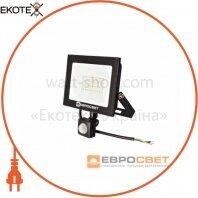 Прожектор светодиодный ЕВРОСВЕТ 30Вт с датчиком движения EV-30-504D 6400К 2100Лм