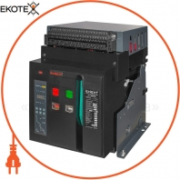 Повітряний автоматичний вимикач e.industrial.acb.2000F.1600, стаціонарний, 0,4кВ, 3Р, електронний розчіплювач, мотор-привід та РН