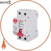 Выключатель дифференциального тока с защитой от сверхтоков e.rcbo.stand.2.C06.30, 1P+N, 6А, С, 30мА