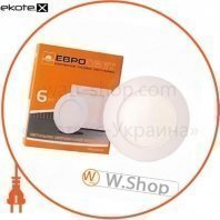 Светильник точечный врезной ЕВРОСВЕТ 6Вт круг LED-R-120-6 6400К
