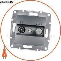 Asfora TV-SAT Розетка промежуточная - 4дБ, без рамки, стальной