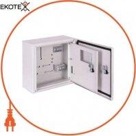 Корпус учета металлический e.mbox.pro.n.f1.4z IP54 навесной под 1ф счетчик, 4 мод. с замком, с внутр. дверцей под опломб.