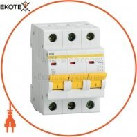 Автоматичний вимикач ВА47-29 3Р 50А 4,5кА З IEK