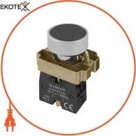 Кнопка без подсветки плоская e.mb.ba21 черная, без фиксации, 1NO