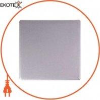 "Клавиша e.lux.11011L.pn.aluminium одинарная ""алюминий"""