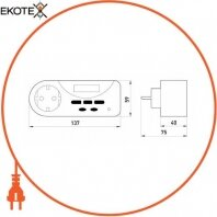 Enext i0310023 реле контроля активной мощности однофазное розеточное e.control.w01