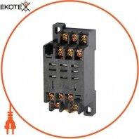 Модульний роз'єм e.control.p103s для проміжного реле 10А на 3 групи контактів