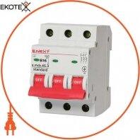 Модульный автоматический выключатель e.mcb.stand.45.3.B16, 3р, 16А, В, 4,5 кА