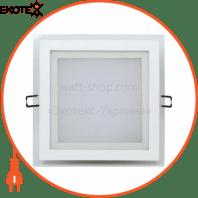 Светильник встраиваемый LED 15W 6400K 1150Lm 165-260V 198мм белый квадрат.
