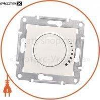 Sedna Светорегулятор двунаправленный поворотно-нажимной, без рамки 325VA кремовый