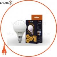LED лампа G45 5Вт Е14 слой 4200K ELCOR