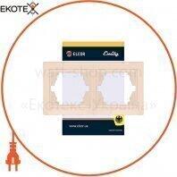 Рамка 2-местная горизонтальная Emily 9215 крем ELCOR