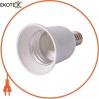 Переходник e.lamp adapter.Е14/Е27.white, с патрона Е14 на Е27, пластиковый