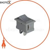 Клавишный переключатель ENERGIO KCD1-101 Gr/Gr ON-OFF 1 клавиша