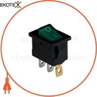 Клавишный переключатель ENERGIO KCD1-2-101N Gr/Bk ON-OFF 1 клавиша с подсветкой