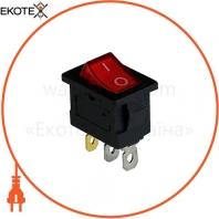 Клавишный переключатель ENERGIO KCD1-2-101N Rd/Bk ON-OFF 1 клавиша с подсветкой