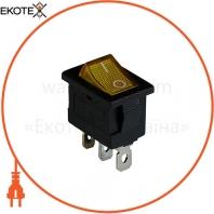 Клавишный переключатель ENERGIO KCD1-2-101N Yl/Bk ON-OFF 1 клавиша с подсветкой