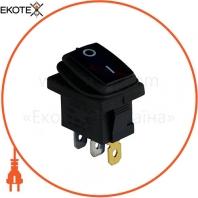 Клавишный переключатель ENERGIO KCD1-2-101WN Bl/Bk ON-OFF 1 клавиша с подсветкой IP65