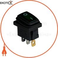 Клавишный переключатель ENERGIO KCD1-2-101WN Gr/Bk ON-OFF 1 клавиша с подсветкой IP65