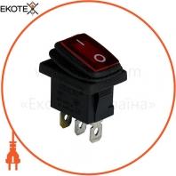 Клавишный переключатель ENERGIO KCD1-2-101WN Rd/Bk ON-OFF 1 клавиша с подсветкой IP65