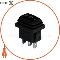 Клавишный переключатель ENERGIO KCD1-2-103W Bk/Bk ON-OFF-ON 1 клавиша с подсветкой