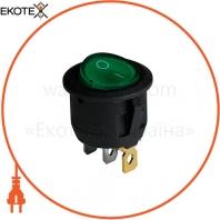 Клавишный переключатель ENERGIO KCD1-5-101N Gr/Bk ON-OFF 1 клавиша с подсветкой