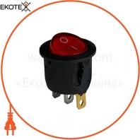 Клавишный переключатель ENERGIO KCD1-5-101N Rd/Bk ON-OFF 1 клавиша с подсветкой