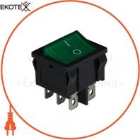 Клавишный переключатель ENERGIO KCD1-6-201N Gr/Bk ON-OFF 1 клавиша с подсветкой