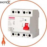 Выключатель дифференциального тока e.rccb.pro.4.80.300, 4р, 80А, 300мА