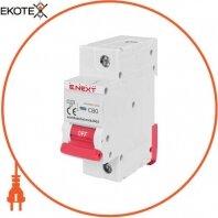 Модульный автоматический выключатель e.industrial.mcb.150.1.C80, 1р, 80А, C, 15кА