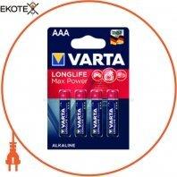 Батарейка VARTA LONGLIFE MAX POWER AAA BLI 4 шт