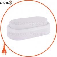Світильник світлодіодний, захищений від вологи e.LED.oval.8.4500.white, 8Вт, 4500К, IP54, білий