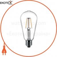 Лампа светодиодная Philips Filament LED Classic 4-40 Вт ST64 E27 830 CL NDAPR